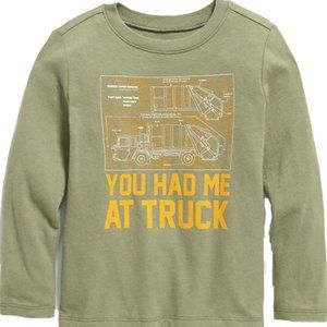 Old Navy Unisex LS Graphic Tee for Toddlers. Truck